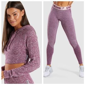 Gymshark Slounge Crop Hoodie & Flex Leggings Set